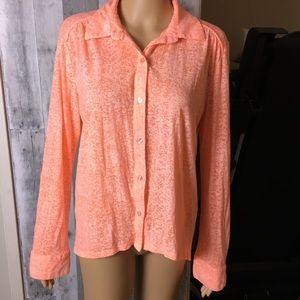 Eyeshadow Orange Sherbet Button Up Blouse